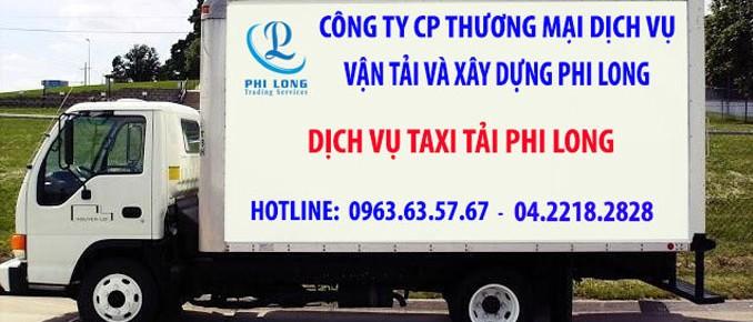 Dịch vụ taxi tải 1,25 tấn Phi Long