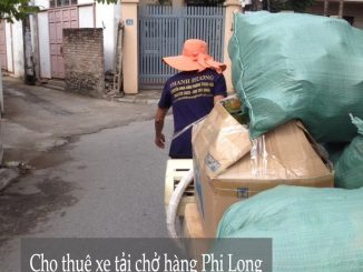 Taxi tải Phi Long tại phố Trạm