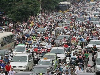 Hình ảnh ùn tăc giao thông tại Hà Nội