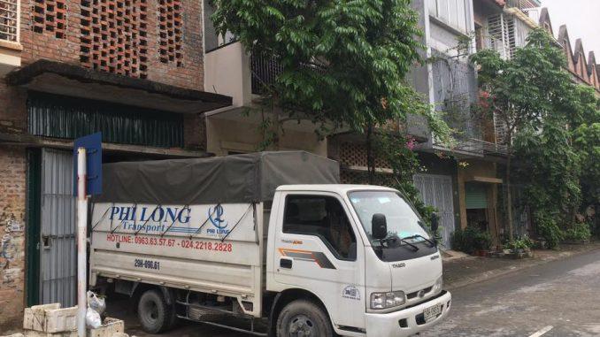 Dịch vụ Taxi tải Phi Long tại phố Trung Kiên