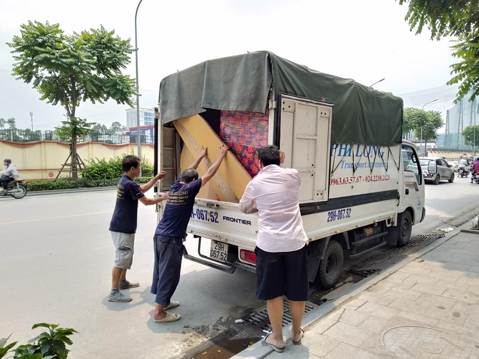 Dịch vụ taxi tải Phi Long tại phố Ô Chợ Dừa 2019