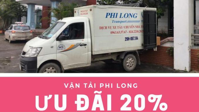 Dịch vụ taxi tải Phi Long tại phố Trần Đăng Ninh