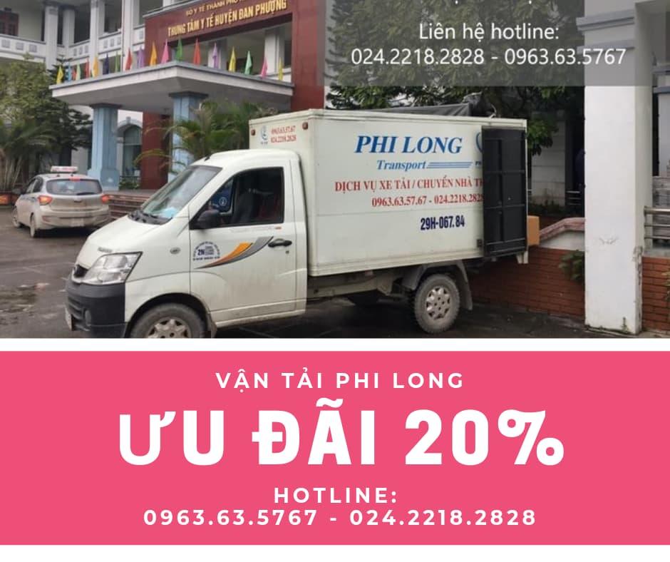 Dịch vụ taxi tải Phi Long giảm giá 20% tháng 6/2019