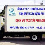 Dịch vụ taxi tải Phi Long tại đường Linh Đàm