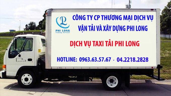 Dịch vụ taxi tải Phi Long tại đường Đình Thôn