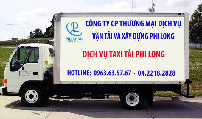 Phi Long taxi tải chuyên nghiệp tại xã Phú Cường