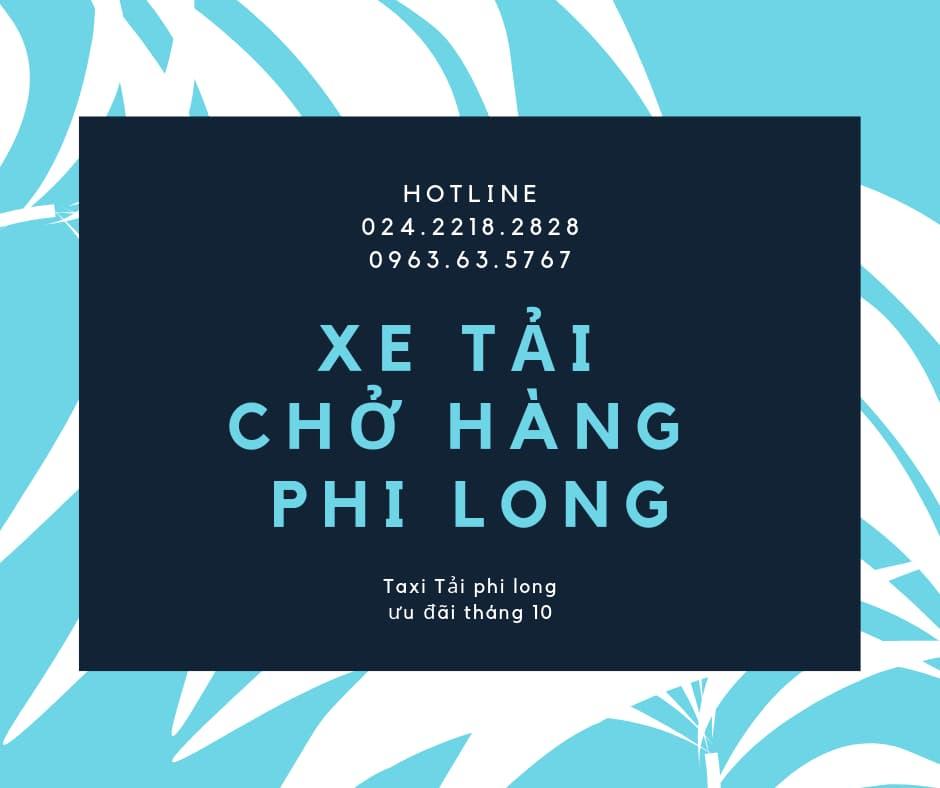 Dịch vụ taxi tải giá rẻ Phi Long tại phố Cổng Đục