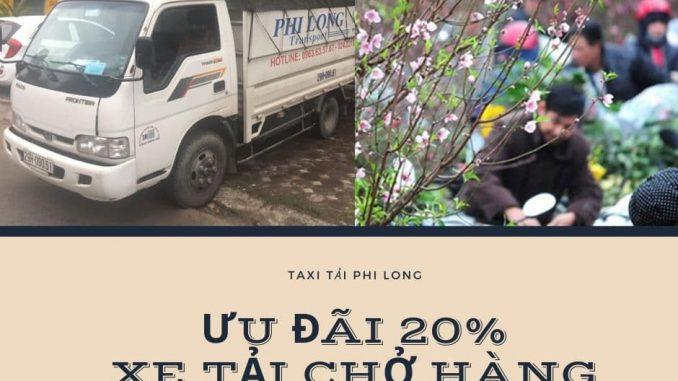 Xe tải chở hàng tại xã Đại Hùng