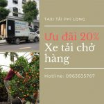 Xe tải vận chuyển hàng Tết tại xã Lê Thanh