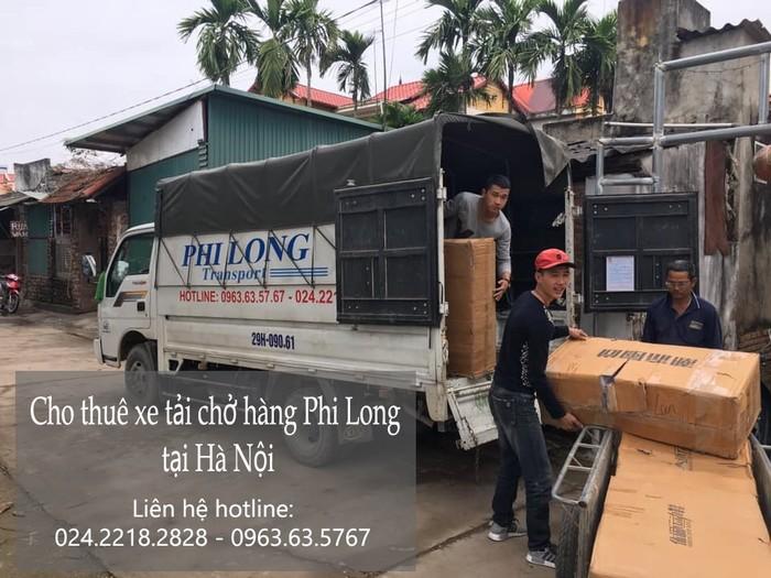 Xe tải vận chuyển Phi Long tại xã Liên Trung