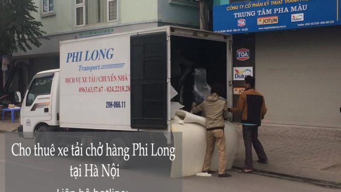 Xe chở hàng tại phố Giang Văn Minh đi Hưng Yên