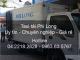 Vận chuyển hàng hóa chất lượng tại phố Tạ Hiện