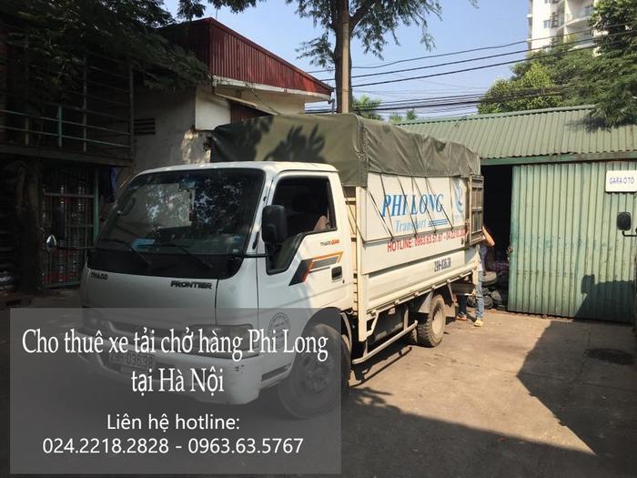 dịch vụ cho thuê xe tải Phi Long tại đường Thanh Niên.